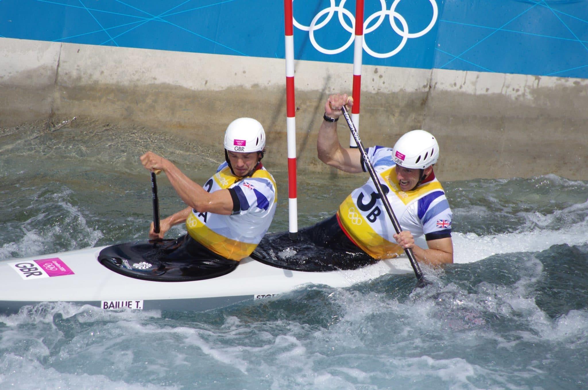Slalom canoeing 2012 Olympics C2 GBR Timothy Baillie and Etienne Stott 3