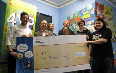 Suffolk Young Persons Charity 4YP boost from Chimp Management Ltd