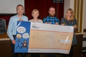 Proceeds of Professor Peters Talk Raises £2,500 for Local Hospice